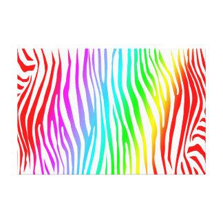 Zebra Pattern in Color Canvas Print