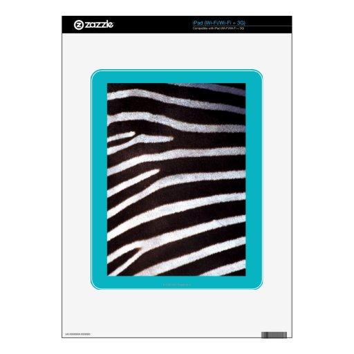 Zebra Pattern iPad Skin