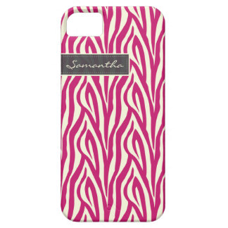 Zebra Pattern iPhone 5 Case-Mate Case (fucshia)