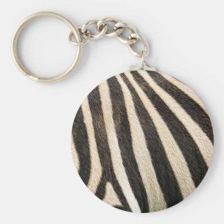Zebra pattern keychain