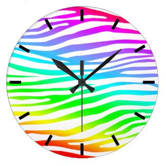 Zebra Pattern Large Clock
