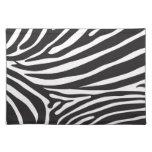 Zebra pattern, modern zebra print black and white placemat