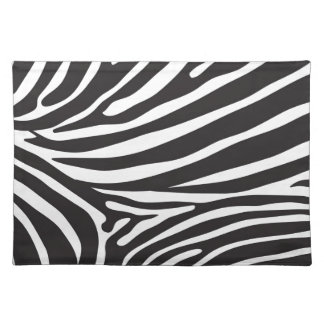 Zebra pattern, modern zebra print black and white placemat