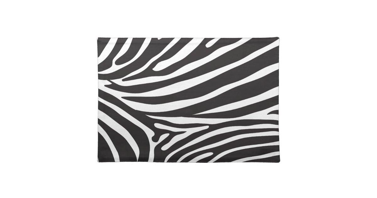 Aninimal Book: Zebra pattern, modern zebra print black and white placemat ...