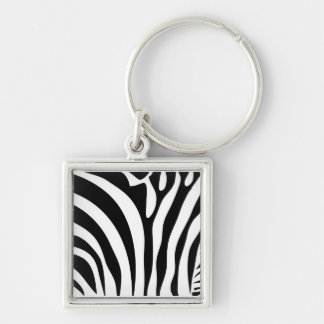 Zebra pattern multiple items keychain