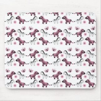Zebra Pattern Print Mouse Pad