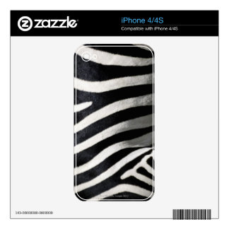 Zebra Pattern Skin For The iPhone 4