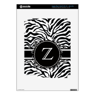 Zebra Pattern with Monogram Cool and Bold Skin For iPad 3