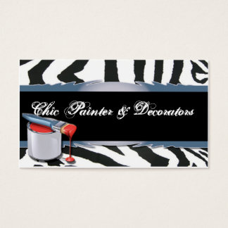 Zebra Pattern with Paint Tin Business Card