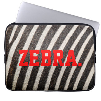 """ZEBRA Patterned Laptop Sleeve 13"""" (ZebraSkin)"""