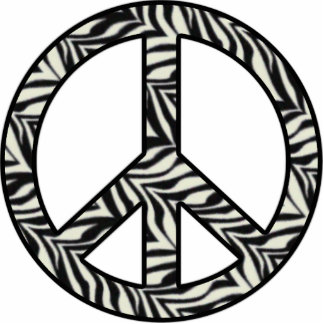 Zebra Peace Sign Statuette