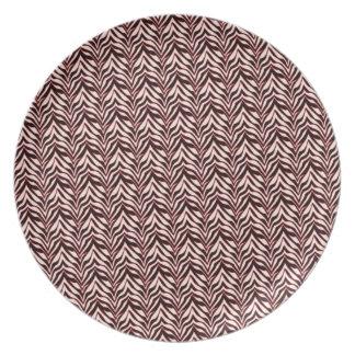 zebra pepperminnt design dinner plate