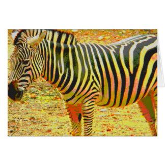 Zebra Personalize Note Card
