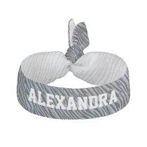 Zebra Personalized Cheerleader Hairtie