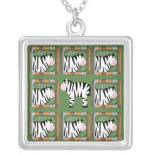 Zebra Personalized Necklace