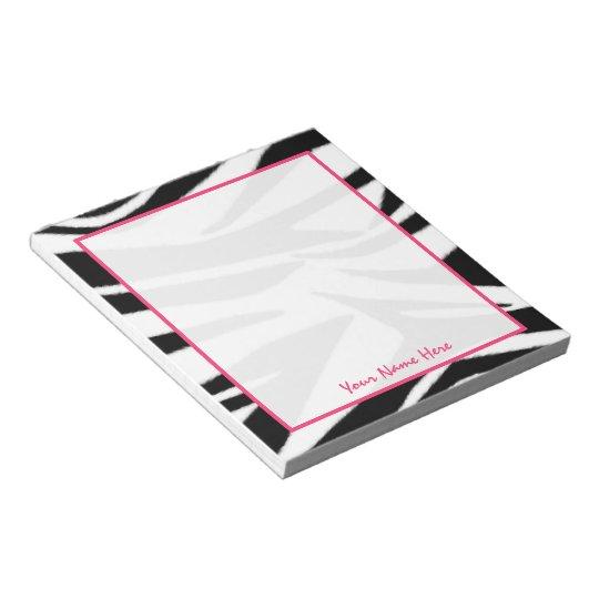 Zebra Personalized Notepad
