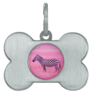 Zebra Pet Name Tag