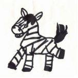 zebra photo cut out