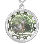 Zebra Photo Design Necklace