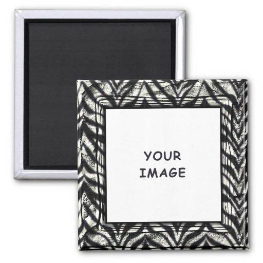 Zebra Photo Frame Magnet