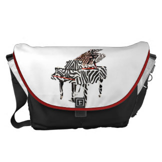 Zebra Piano ~ Baby Diaper Bag Large 12x21x9