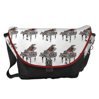 Zebra Piano ~ Bag Large 12x21x9