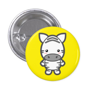 Zebra Pinback Button