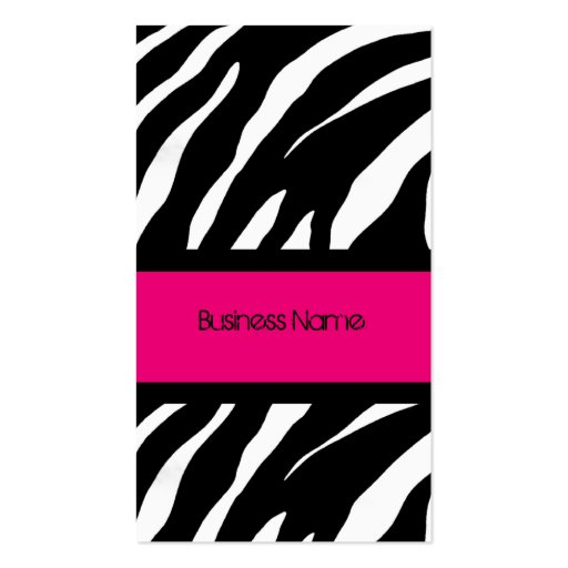 ZEBRA PINK AND BLACK Business Card