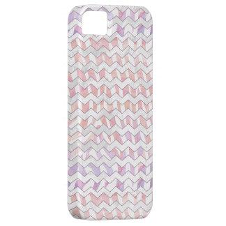 Zebra Pink and White Chevron iPhone SE/5/5s Case
