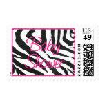 Zebra Pink Baby Shower Postage Stamp