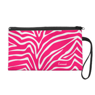 Zebra Pink Black Designer Barely There Purse