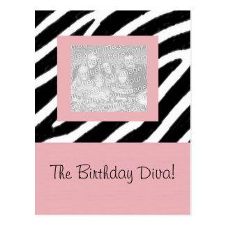 Zebra & Pink Fun Party Frame Card