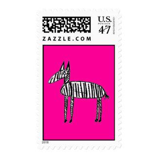 Zebra - Pink Postage