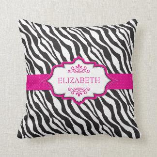 Zebra Pink Ribbon MoJo Pillow