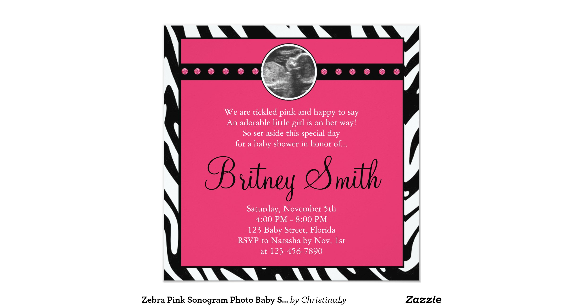 Sonogram Baby Shower Invitations - Best Printable Invitation Design ...