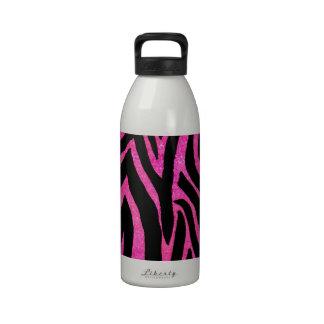 Zebra Pink Striped Drinking Bottle