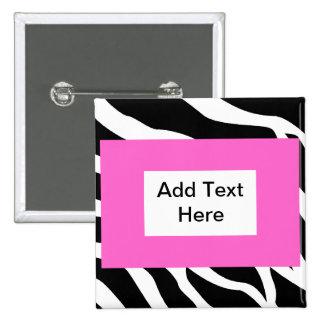 Zebra Pink White Template Pin