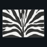 """Zebra Placemat<br><div class=""""desc"""">12"""" x 18"""" paper placemat with an image,  on both sides,  of zebra print. See matching cloth placemat,  kitchen towel,  cloth napkin,  paper cocktail napkin and coasters. See the entire Safari Placemat collection in the FOOD/BEV 