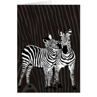 Zebra Play Card