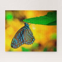 Zebra Polka Dot Butterfly. Jigsaw Puzzle