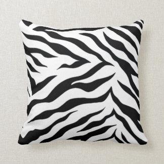 """Zebra Polyester Throw Pillow (16"""" x 16)"""""""