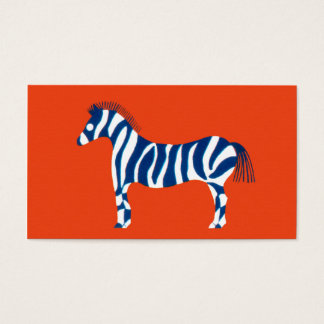 Zebra Pop Art Business Card