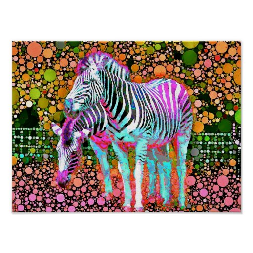 Zebra Pop Art Poster