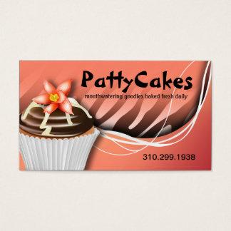 Zebra Pop Cupcakes - ombre peach Business Card