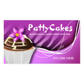 Zebra Pop Cupcakes - ombre purple Double-Sided Standard Business Cards (Pack Of 100)
