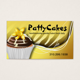 Zebra Pop Cupcakes - ombre yellow Business Card