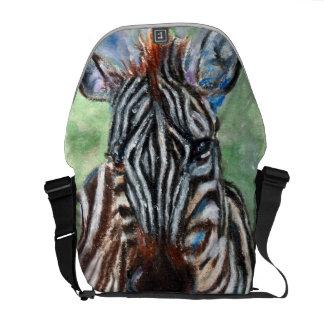 Zebra Portrait ACEO Messenger Bag