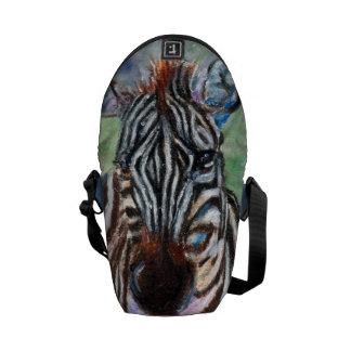 Zebra Portrait ACEO Mini Messenger Bag