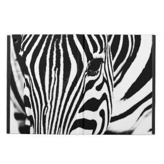 Zebra portrait black and white iPad air cover