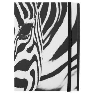 "Zebra portrait black and white iPad pro 12.9"" case"